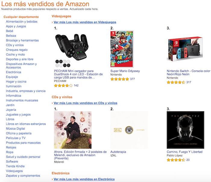 Más vendidos Amazon