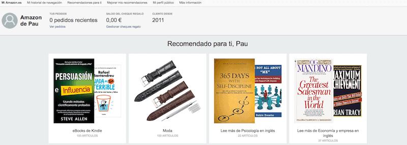 Recomendaciones Amazon