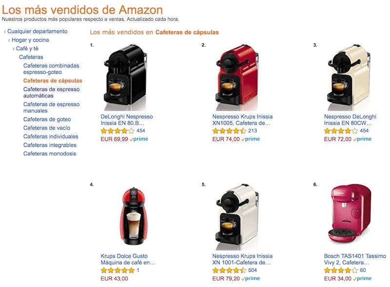 Subcategoría Amazon