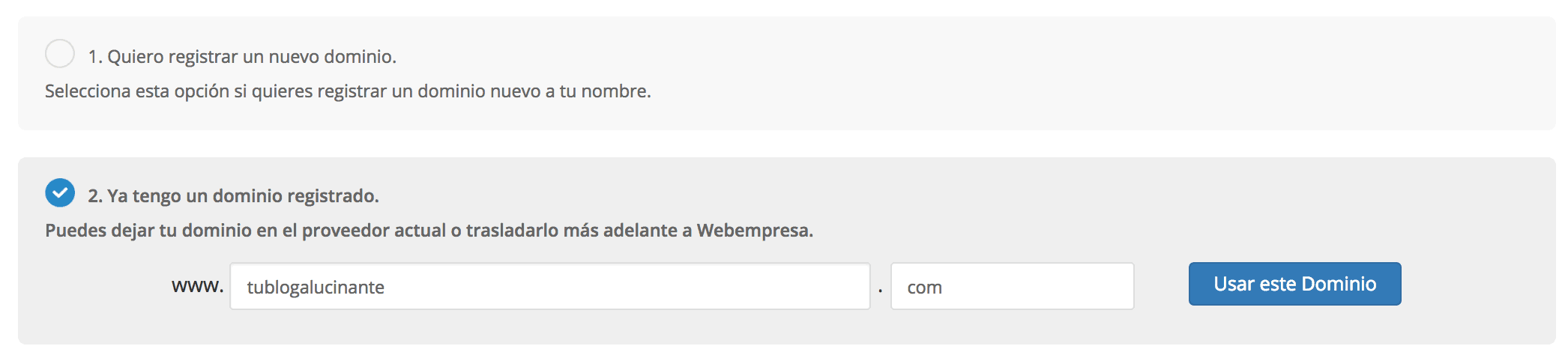 Contratar hosting webempresa