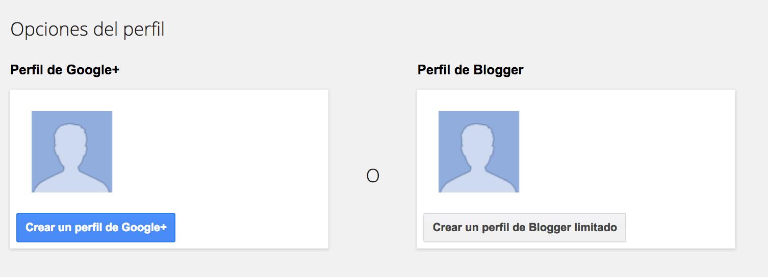 Opciones de perfil