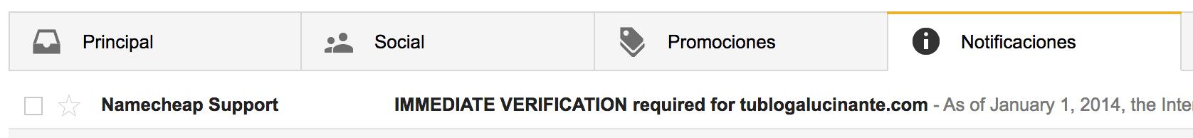 email confirmacion