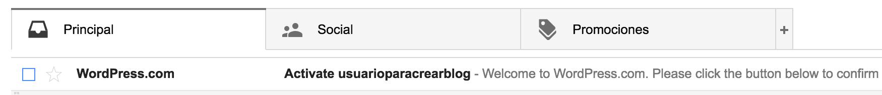email verificación