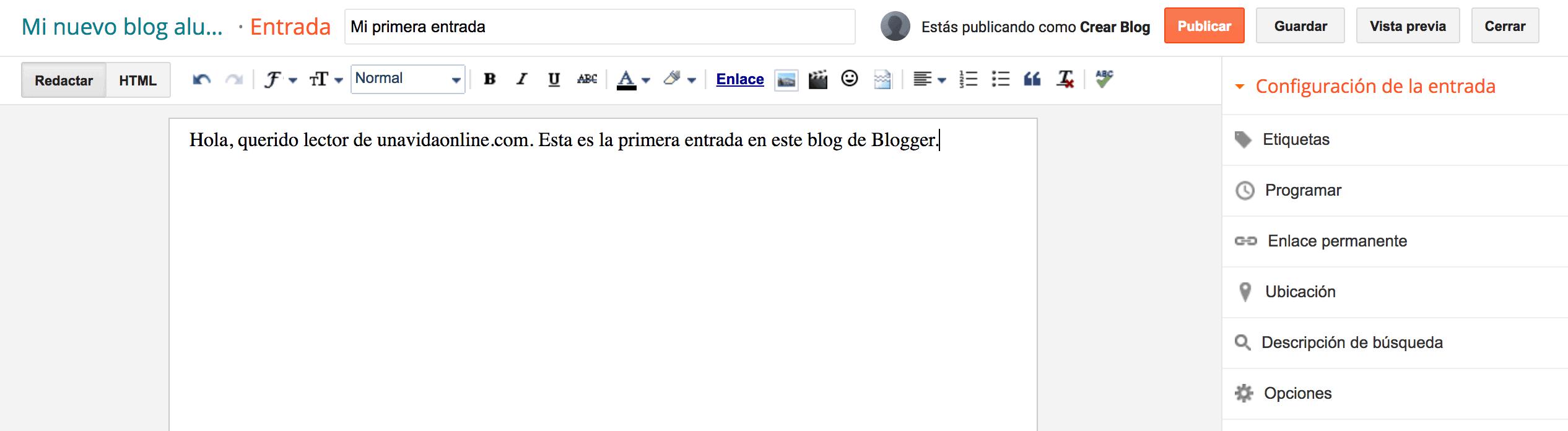 entrada blogger
