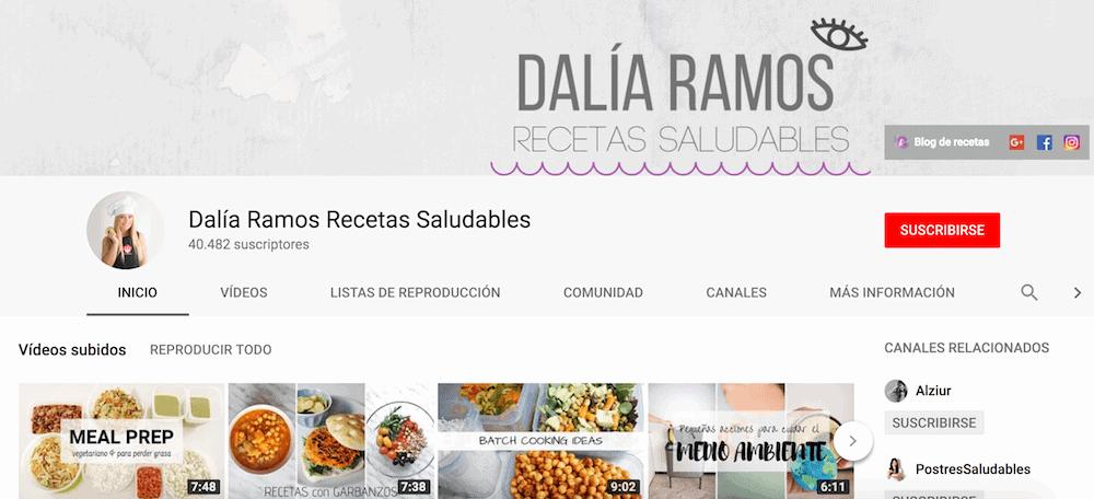 Canal recetas Youtube