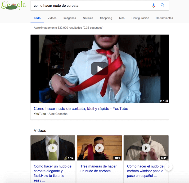 Resultados Google nudo corbata