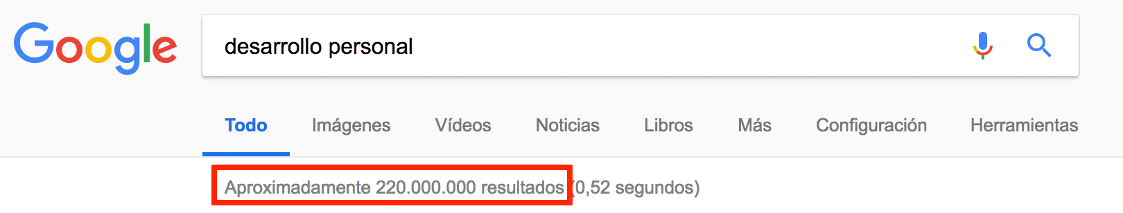 Resultados Google desarrollo personal