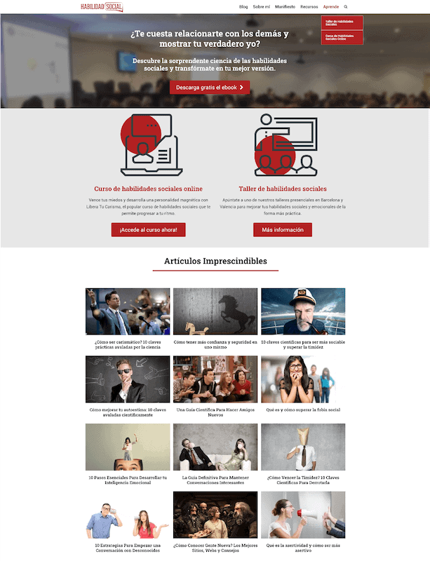Ejemplo homepage